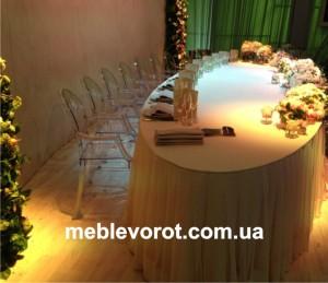 Аренда овального стола_прокат мебели для свадьбы
