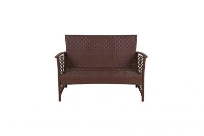 Аренда (прокат) 2-х местного коричневого дивана из ротанга по 300 грн/сутки
