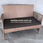 Прокат дивана ротанг коричневого Киев