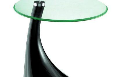 Аренда (прокат) стола кофейного «Капля» со стеклянной поверхностью на черной глянцевой ножке по 140 грн/сутки