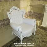 Аренда антикварного кресла белого Киев