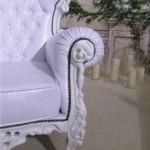 Прокат дизайнерского кресла белого барокко Киев
