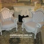 Аренда кресла белого барокко Киев