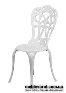 Прокат стульев садовых чугунных белых в Киеве