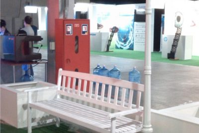 Аренда (прокат) садового (паркового) фонаря белого цвета по 900 грн/сутки