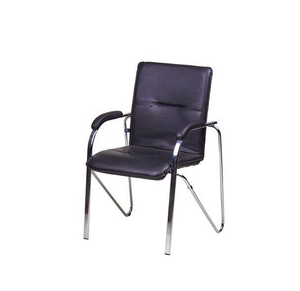 """Аренда (прокат) конференционных стульев-кресел """"САМБА"""" черного цвета с подлокотниками по 120 грн/сутки"""