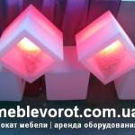 Аренда лед мебели куб в Киеве