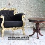 Кресла старинные барокко черные с золотой оправой в Киеве