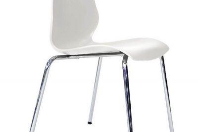 "Аренда (прокат) стул ""Лили"" белого цвета  на хромированном каркасе по 60 грн/сутки"