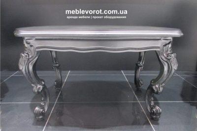 """Аренда (прокат) антикварного кофейного столика """"Barokko black"""" черного матового цвета по 500 грн/сутки"""