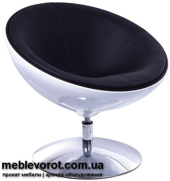 Аренда (прокат) черных дизайнерских кресел «Лотос» по 600 грн/сутки