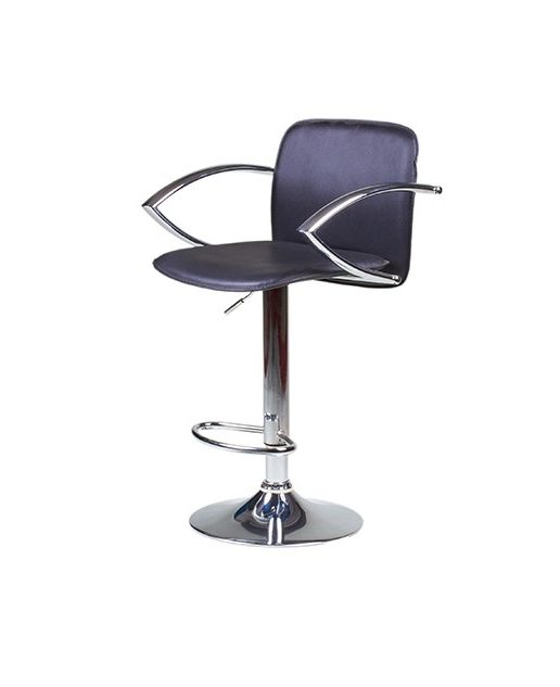 """Аренда (прокат) барного дизайнерского стула-кресла """"LUX"""" черного цвета со спинкой по 200 грн/сутки"""