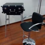 Прокат черных барных стульев
