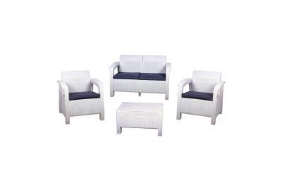 Аренда (прокат) комплекта ротанговой мебели белого цвета на 4 посадочных места по 1200 грн/сутки