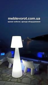 Аренда светящегося белого декоративного фонаря