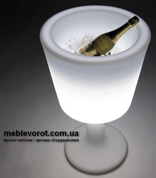 """Аренда (прокат) светящейся емкостиСлайд  для льда и напитков """"LED-бокал"""" по 500 грн/сутки"""