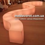 Прокат пластикового лед дивана бара Киев