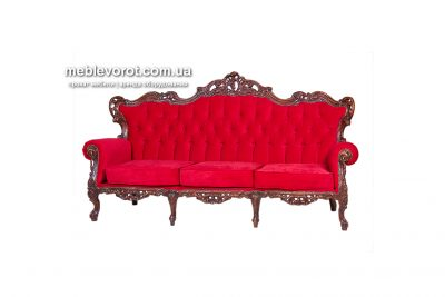 Аренда (прокат) дивана «Барокко» с красной оббивкой  по 1500 грн/сутки