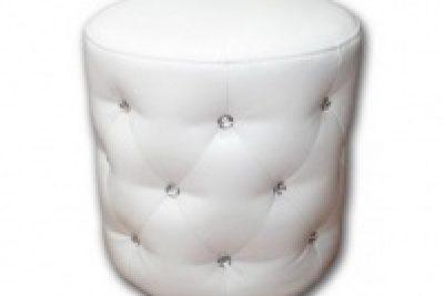 Аренда (прокат) пуфов со стразами белого и черного цвета 200 грн/сутки