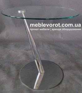 Аренда стола на косой хромированной ножке Киев