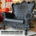 Аренда кресла пластмассового черного по Киеву