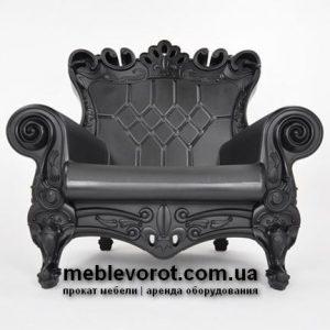 Прокат дизайнерского кресла черного цвета в Киеве и по Украине