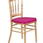 Аренда банкетного стула Наполеон с золотым напылением и бардовой подушкой