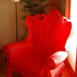 Аренда кресла Слайд красного пластмассового по Киеву