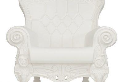 Аренда (прокат) кресла Слайд SLIDE «Queen Of Love» белого цвета по 1300 грн/сутки