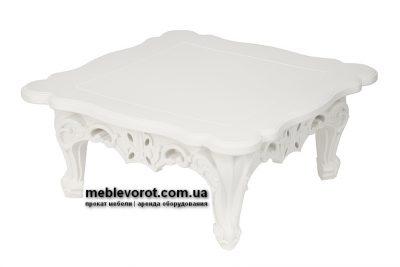 Аренда (прокат) кофейного столика Слайд SLIDE белого цвета по 900 грн/сутки