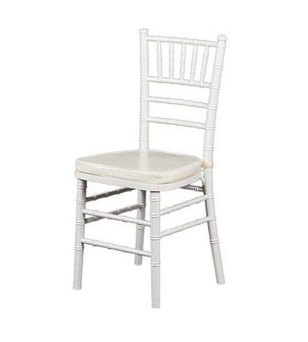 """Аренда (прокат) свадебных стульев """"Chiavari"""" (кьявари) белого цвета с мягкой сидушкой по 109 грн/сутки"""