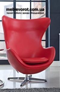 Аренда кресла Эгг красного цвета в Киеве