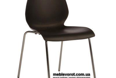 Аренда (прокат) стул «Лили» черного цвета на хромированном каркасе по 80 грн/сутки