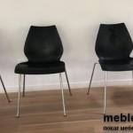 Прокат стульев Лили черных в Киеве