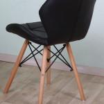 Аренда стула с деревянными ножками Призма черного цвета лофт в Киеве