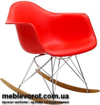 """Аренда (прокат) дизайнерского кресла-качалки """"ТАУЕР"""" красного цвета по 299 грн/сутки"""