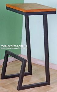 Аренда стульев барных в стиле лофт с черным каркасом по Кивеу