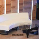 Прокат дивана полукруглого белого Киев