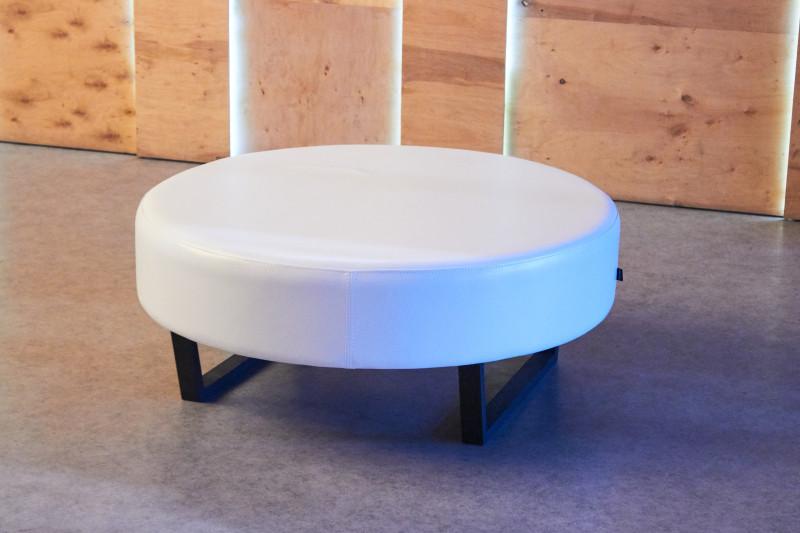 Аренда (прокат) большого круглого пуфа (банкетки) белого 600 грн/сутки