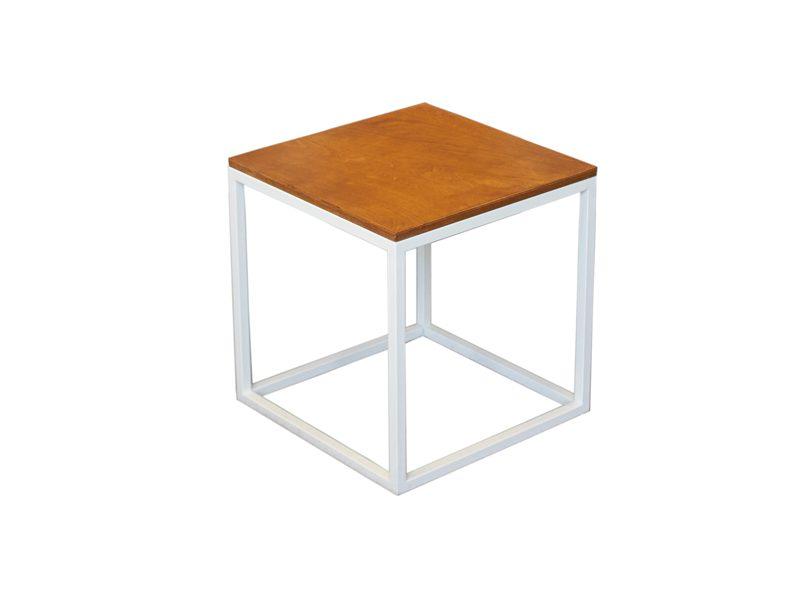 Аренда (прокат) стол журнальный «Куб» лофт белый 150 грн/сутки