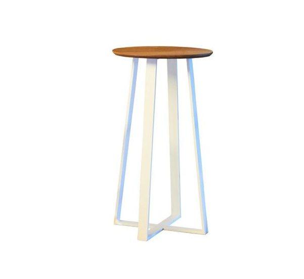 Аренда (прокат) стол барный «Круглый» лофт белый 300 грн/сутки