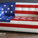 Прокат дивана с рисунком американский флаг в Киеве