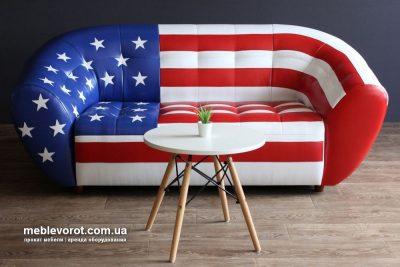 Аренда (прокат)  кожаного дивана Магнат флаг Америки по 1499 грн/сутки