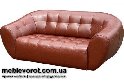 Аренда (прокат) коричневого кожаного дивана Магнат по 999 грн/сутки