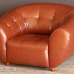Прокат кожанных диванов магнат коричневого цвета в Киеве