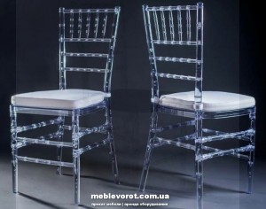 Аренда (прокат) стул чиавари прозрачный 140 грн/сутки