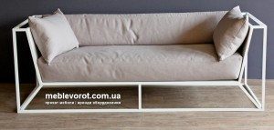 Аренда дивана белого цвета металлического по Киеву