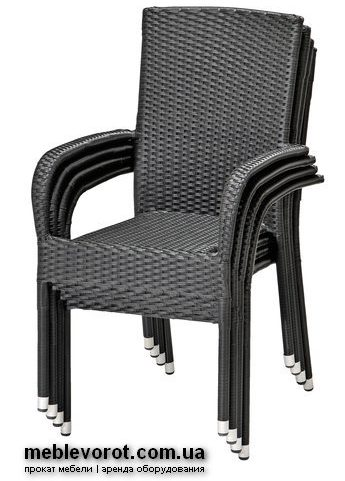Аренда (прокат) стул ротанг цвет графит 200 грн/шт.