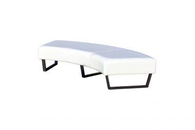 Аренда (прокат) диван полукруглый без спинки белый 1000 грн/сутки