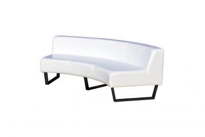 Аренда (прокат) диван полукруглый со спинкой белого цвета 1300 грн/сутки